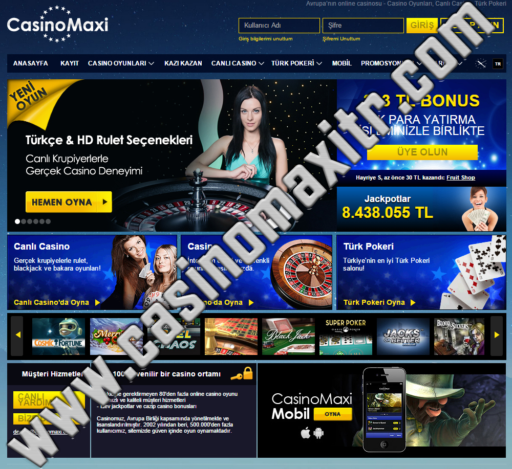 Casino Maxi Yeni Adres Casinomax10
